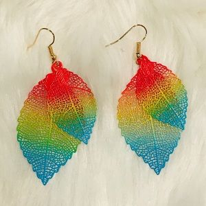 🍃Colorful double leaf earrings 🍃